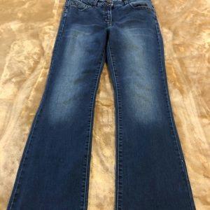 Jeans slight flare enhancer jeans  wash look